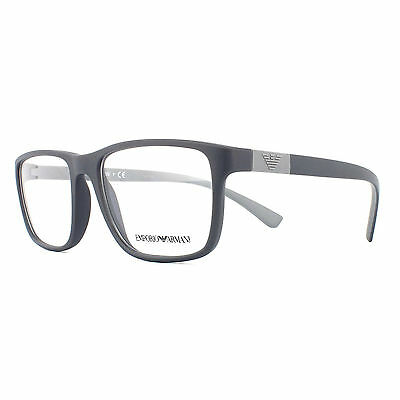 Emporio Armani Glasses Frames 3091 5502 Matte Grey Men 55mm