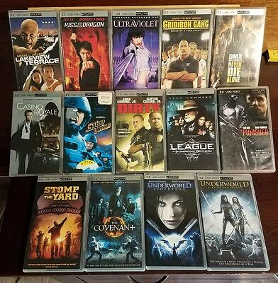 Pre-owned ~ Lot of 14 Umd Video Movies For PSP (Underworld, Covenant  many more)