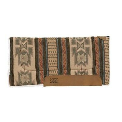 Weaver Leather All Purpose Running Bull Pattern Saddle Pad, Coffee, 32 x 32-Inch