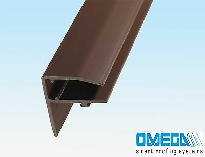 F Section for Polycarbonate Roofing Sheets, Use with 10mm - 35mm Polycarbonate