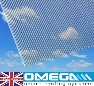 16mm Polycarbonate Roofing Sheet | Glazing Panel -Various Colours & Sizes, TAPED