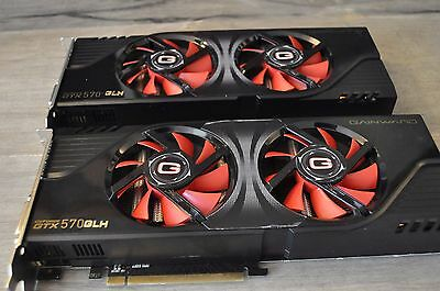 Lot de 2 Cartes graphiques Gainward GeForce GTX 570 1,25 Go