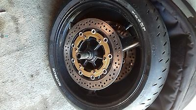 yamaha r1 front wheel 4xv 5jj 5pw discs and tyre