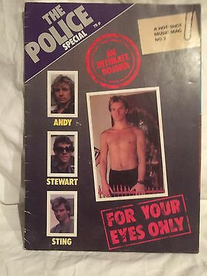 Rare The Police Special Hot Shot Music Mag No 2 For Your eyes Only.