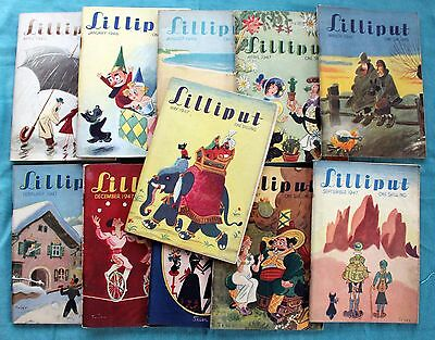 JOB LOT OF 11 LILLIPUT MAGAZINES FROM 1946 and 1947