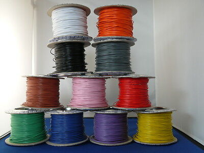 10m Solid Core 1/0.6 Hook Up/Equipment Wire 11 colours or 5m Red/5m Black