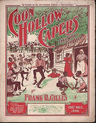 Coon Hollow Capers 1900 Large Format Sheet Music