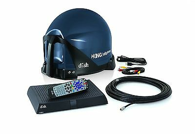 KING VQ4510 Tailgater Bundle - Portable Satellite TV Antenna and DISH HD Solo