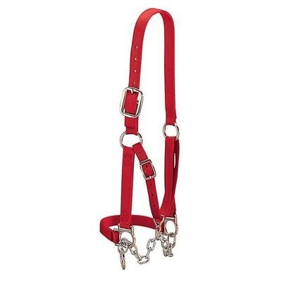 Weaver Leather Heavy-Duty Restraint Cow Halter Red Large