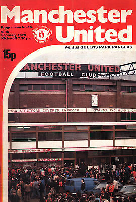 1978/79 Manchester United v Queens Park Rangers, Division 1, PERFECT CONDITION