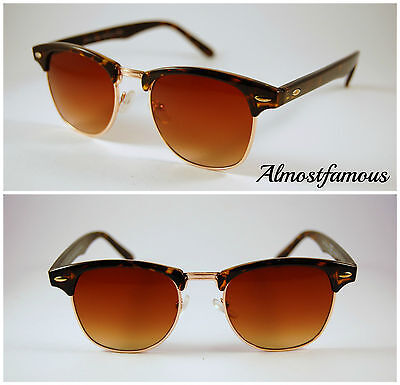 Classic retro 80's vintage fashion indie hipster tortoise clubmaster sunglasses