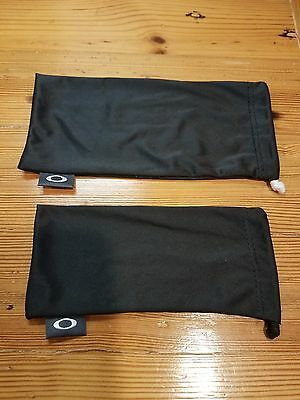 Oakley Black Micro Fiber Drawstring Bag Pouch Case Doubles As Cleaning Cloth New