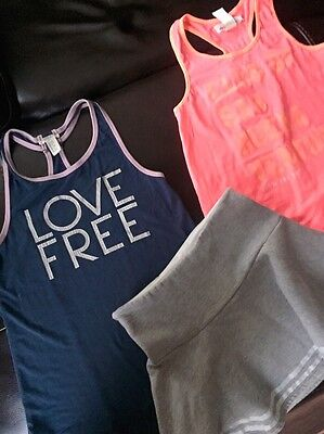 Lot of 3 Girls Kids Forever 21 H&M Size 12 14 Outfit skirt tank top shirt