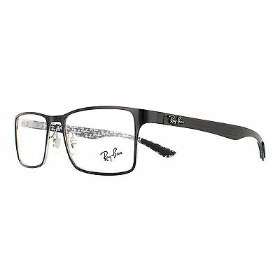 Ray-Ban Glasses Frames 8415 2861 Top Shiny Black On Silver Men 53mm