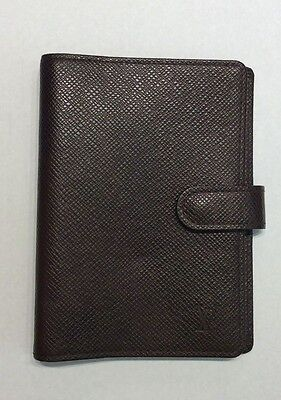 Louis Vuitton Agenda - Day Planner In Brown Taiga Leather Ca0977