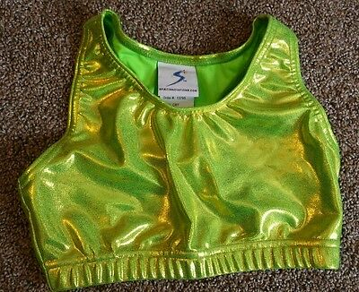 Spirit Innovations green cheer dance gymnastics sports bra top size adult small