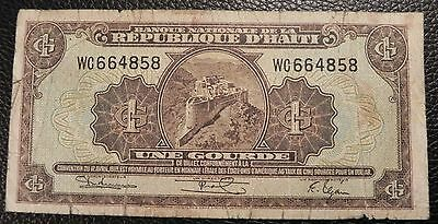 HAITI - 1 gourde - ND (1950) - Pick 174 (Convention of 1919, Fifth Issue)