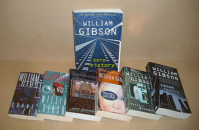 7 William Gibson lot Spook Country, Zero History, Neuromancer, Count Zero, more