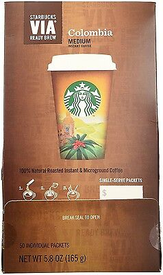 Starbucks VIA Ready Brew  Colombia, 3.3-Gram Packages,50 Count read  descrip