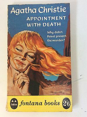 Agatha Christie Vintage 1960 POIROT  Fontana PB s 1st/1st APPOINTMENT WITH DEATH
