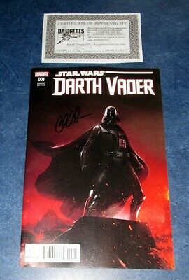 DARTH VADER #1 signed CHARLES SOULS variant 1st print MARVEL 2017 STAR WARS COA
