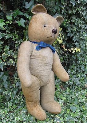"Adorable Vintage 1940s ""Chiltern Dog Nose Hugmee"" Teddy Bear - 24"""