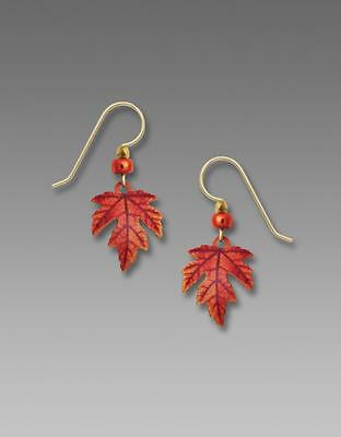 Sienna Sky Earrings 925 Sterling Silver Hook Autumn Maple Leaf Handmade in USA