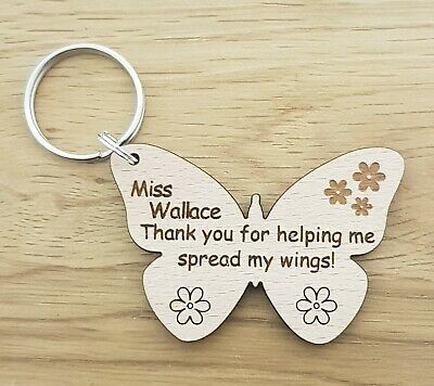 Personalised Keyring School Gift For Teacher Gifts Nursery End Of Year Term