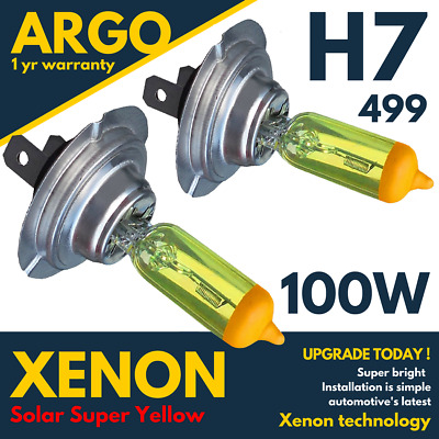 55W 100W H1 H3 H4 H7 H8 H11 9006 Xenon Optics Halogen Lamps Super Yellow Bulbs