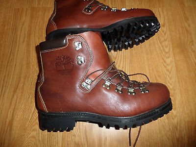 Vintage Timberland Mountaineering Hiking Boots Men's 10 Wide