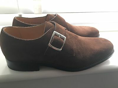 Barker Mens BNIB Monk Suede Shoes in Brown size 7