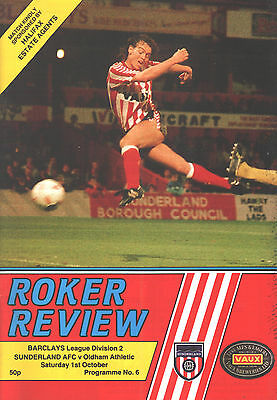 1988/89 Sunderland v Oldham Athletic, Division 2, PERFECT CONDITION