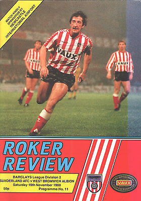 1988/89 Sunderland v West Bromwich Albion, Division 2, PERFECT CONDITION