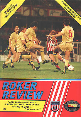 1988/89 Sunderland v Leeds United, Division 2, PERFECT CONDITION
