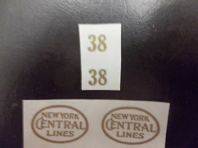 Gold Self-Adhesive Decals For Early Lionel Standard Gauge #38 Engine