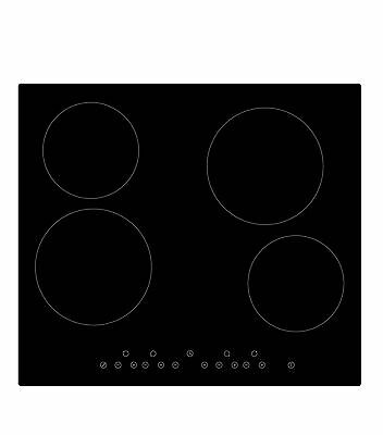 Graded Cookology 60cm Ceramic Hob CET600 | Black Electric, Touch Controls