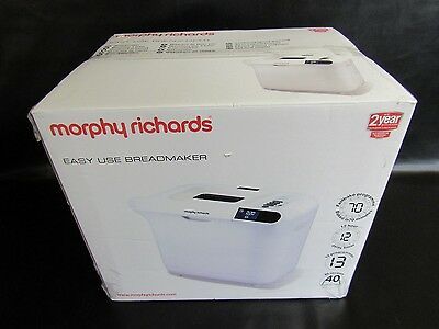 Morphy Richards 48322 Easy Use Breadmaker - New In Box