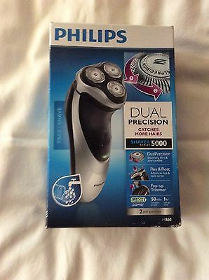New Philips Shaver 5000 with Dual Precision Shaving and Pop-up Trimmer PT860/17