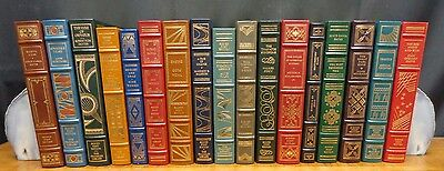 17 Volumes Of The Franklin Library Signed First Edition Society - Leather/signed