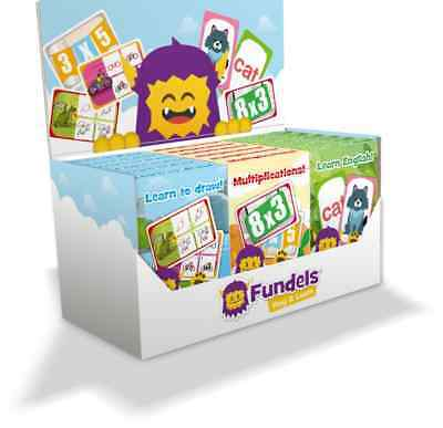 FUNDELS Educational Toys Kids Playing Cards LEARN ENGLISH DRAWING MULTIPLICATION