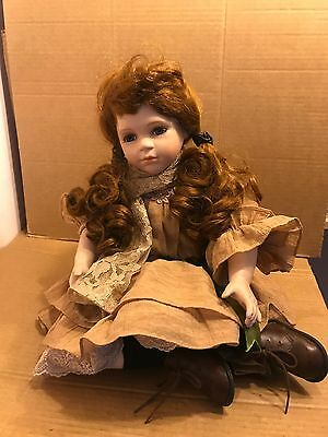 Hanah 'HANA' Collection, Collectable Porcelain Doll, Sitting Doll, 566 / 600