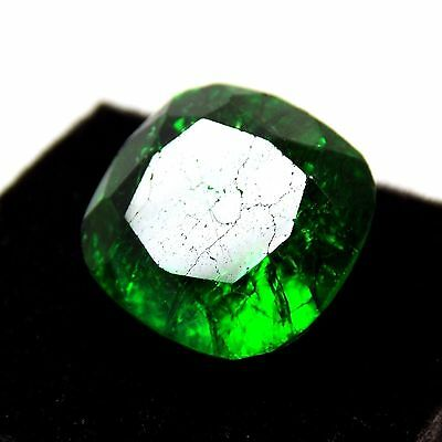 8.76 Ct Natural Certified Radiant Cut Zambian Green Emerald For Making Jewelry