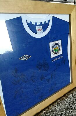 Framed and Signed Linfield shirt