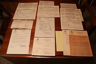 Various Years Federal Income Tax Return Forms 1040A 1917 - 1930 w/ Ephemera
