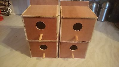 4X Finch nest boxes,bengalese,zebra,star,foreign Free P&P