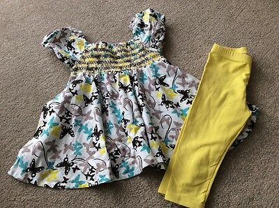 Girls Name It 2 Piece Gorgeous Outfit 9-12 Months Excellent Condition