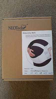 Nexcare maternity support belt. Pregnancy back support. Size L White