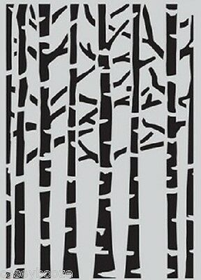 A5 Mask - Flowers - Birch Trees - Stencil - Embossing - New Release - 1221