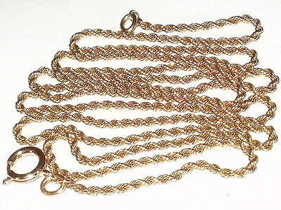 Antique 9Ct Rose Rolled Gold Long Chain - 31 Inches