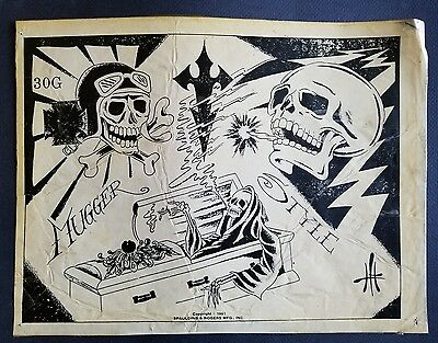 vintage 1981 mugger reaper spaulding rogers s&r production tattoo flash